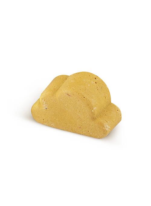 Nettoyant visage solide jaune pour peau normale. Pour grossesse et allaitement. Lamazuna.