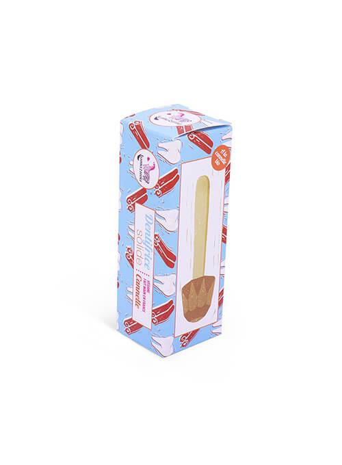 boite de Dentifrice solide à la cannelle adapté grossesse et allaitement. Lamazuna.